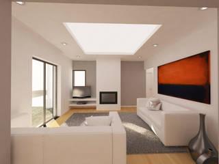 Remodelação de Interiores - Alcobaça: Salas de estar  por Pedro Palma Arquiteto,Moderno