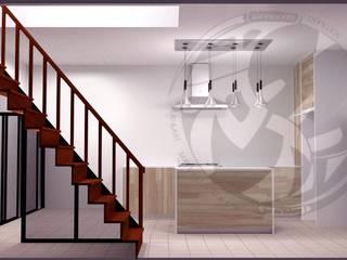 ออกแบบ 3d ห้องครัวไอแลนด์ โดย mayartstyle โมเดิร์น