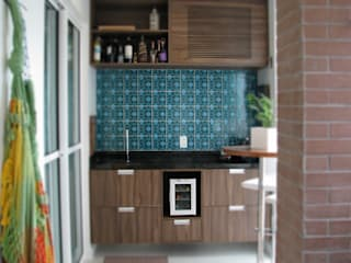 Apartamento 70's Varandas, alpendres e terraços modernos por Collevatti Arquitetura Moderno