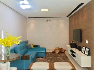 Casa guá Salas multimídia modernas por Collevatti Arquitetura Moderno