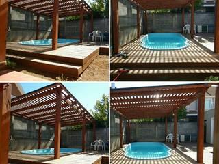 pergola piscina Piscinas de estilo clásico de San Cristobal hnos constructora Clásico
