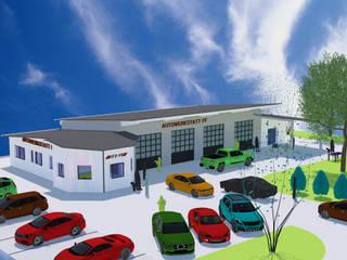 a r c h i t e k t u r b ü r o grimm Modern car dealerships