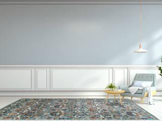 Arijana in Blau: skandinavische Wohnzimmer von Nain Trading GmbH