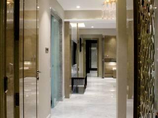 ETHNIC TOUCHE MIDAS DESIGN STUDIO Asian style corridor, hallway & stairs