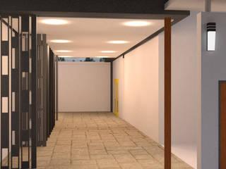 ออกแบบ 3d บ้าน 3 ชั้นให้ลูกค้า style ioft ทางเดินในสไตล์ประเทศห้องโถงและบันได โดย mayartstyle คันทรี่