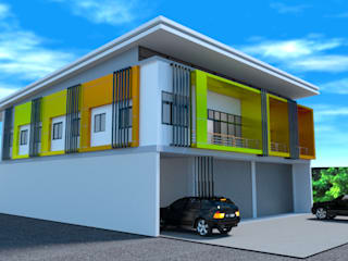 ออกแบบ 3d อาคารพานิชย์ 2ชั้น โดย mayartstyle โมเดิร์น