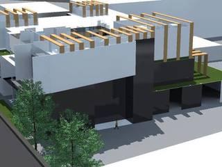 ออกแบบ 3d อาคารพานิชย์ 2ชั้น style modern โดย mayartstyle โมเดิร์น