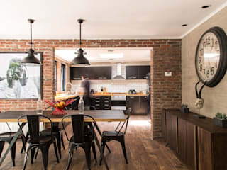 RENOarq Modern dining room Bricks Brown