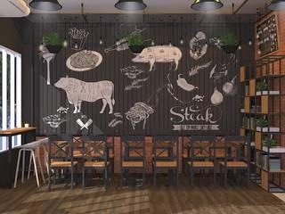 Steakhouse Design / รับออกแบบร้าน Steak:   by DesignOne Bkk