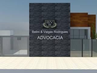 Escritório de Advocacia - Fachada: Espaços comerciais  por ROSITA JAEGER ARQUITETURA E INTERIORES