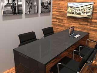 Escritório de Advocacia - Sala Reuniões: Espaços comerciais  por ROSITA JAEGER ARQUITETURA E INTERIORES