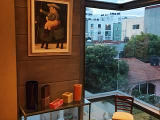 Living room by JMS DISEÑO DE INTERIORES MUEBLES Y CONSTRUCCION , Modern