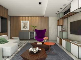Ipiranga 82: Salas de estar  por Casa 27 Arquitetura e Interiores