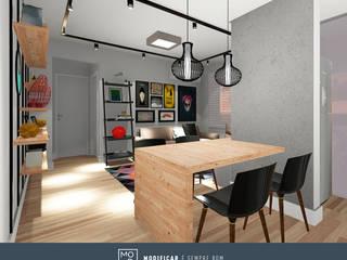 Apartamento NF: Salas de estar  por MODI Arquitetura & Interiores