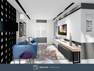Apartamento SJ: Salas de jantar  por MODI Arquitetura & Interiores