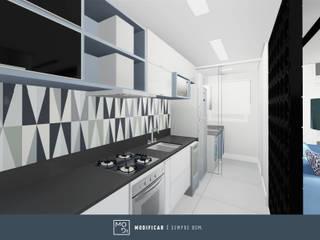 Apartamento SJ: Cozinhas  por MODI Arquitetura & Interiores