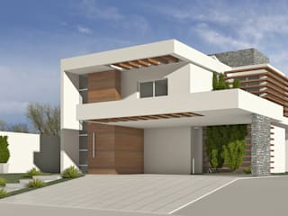 Casa OTA: Casas  por Sergio Matos Arquitetura