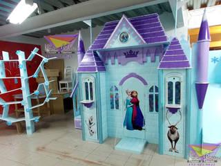 Precioso castillo de Frozen: Habitaciones infantiles de estilo  por camas y literas infantiles kids world