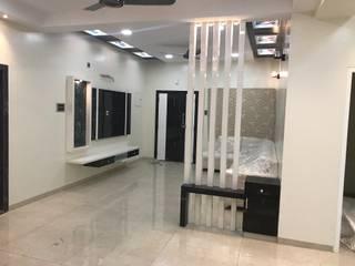 Luxury Interior Design  3 BHK Flat:  Living room by Nabh Design & Associates