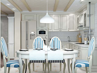 ДизайнМастер Eclectic style kitchen White
