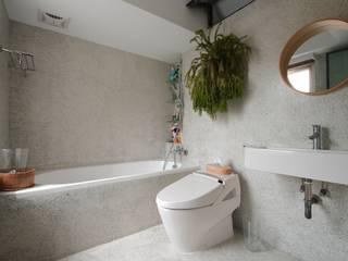 天母曹宅:  浴室 by 直方設計有限公司