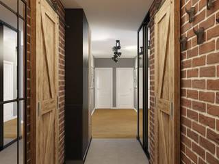 Corredores, halls e escadas industriais por Дизайн Студия 33 Industrial