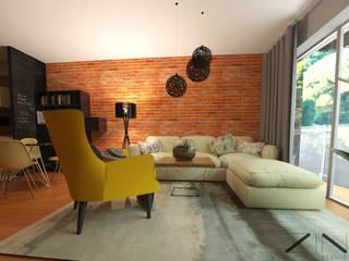 Salon de style  par ZIN Studio, Moderne