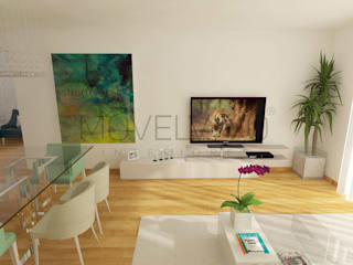 :  Living room by Movelvivo Interiores, Modern