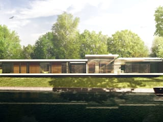 Riverside New Build in Oxfordshire Casas modernas de HollandGreen Moderno