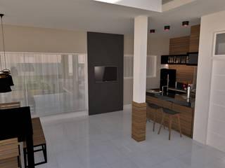 Espaço gourmet: Casas  por E+D Arquitetura,Rústico