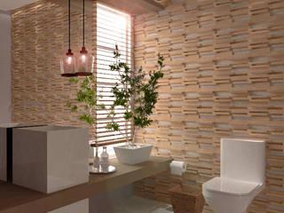 Minimalist style bathrooms by E+D Arquitetura Minimalist