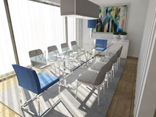 Dining room by Movelvivo Interiores, Minimalist