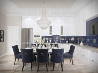 Дизайн интерьера квартиры в современном стиле, 150 кв.м. от СТУДИЯ ДИЗАЙНА ИНТЕРЬЕРА BeHome-Design Классический