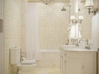 Дизайн интерьера квартиры в современном стиле, 150 кв.м. Ванная в классическом стиле от СТУДИЯ ДИЗАЙНА ИНТЕРЬЕРА BeHome-Design Классический