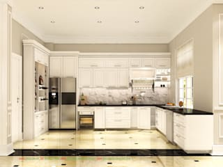 Thiết kế nội thất biệt thự đơn lập Vinhomes Riversides Anh Đào AD03-15: cổ điển  by Công ty TNHH Thiết kế và Ứng dụng QBEST, Kinh điển