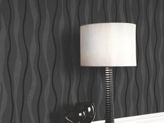Papel pintado rayas onduladas modernas:  de estilo  de Papel pintado para paredes Gaulan