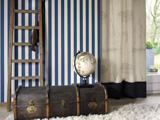 Papel pintado rayas marineras :  de estilo  de Papel pintado para paredes Gaulan