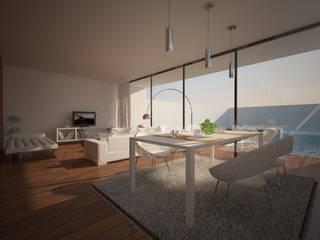 MORADIA MJ: Salas de estar  por Pedro Palma Arquiteto