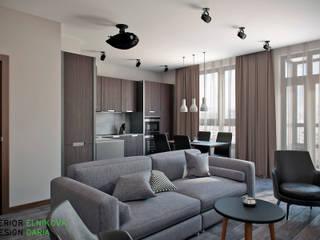 Modern living room by Студия архитектуры и дизайна Дарьи Ельниковой Modern