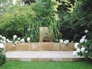 klassisches Gartenmotiv 2kn architekt + landschaftsarchitekt Thorsten Kasel + Sven Marcus Neu PartSchG Klassischer Garten Sandstein Weiß