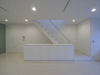 鹿島田の分譲住宅 The housing built for sale in Kashimada モダンデザインの リビング の 栗原正明建築設計室 モダン