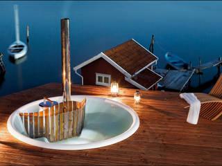 Skargards Terras – De inbouw hot tub:  Zwembad door Skargards Hot Tubs NL