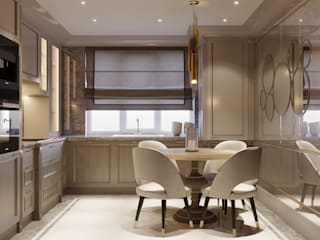 Cocinas de estilo clásico de Diana Tarakanova Design Clásico