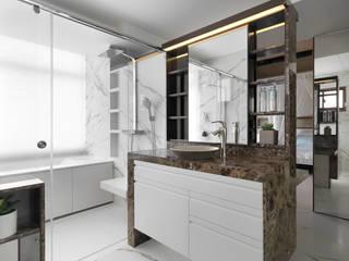 H之所在 現代浴室設計點子、靈感&圖片 根據 禾築國際設計Herzu Interior Design 現代風