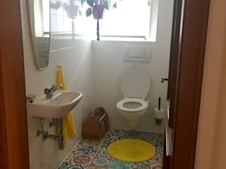 Bathroom Redesign with Traditional Spanish Floor Tiles Decals :   by Moonwallstickers.com