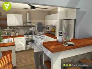 CASA-HABITACIÓN Cocinas modernas de Vertical Creativo Arquitectos Moderno