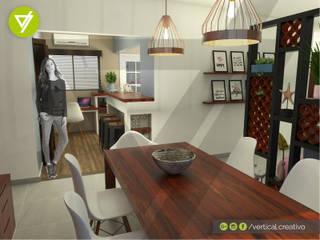 CASA-HABITACIÓN Comedores modernos de Vertical Creativo Arquitectos Moderno