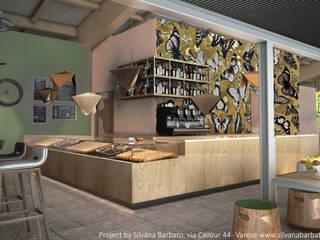 Render della zona banco: Bar & Club in stile  di Silvana Barbato, StudioAtelier