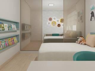 Quarto infantil: Quarto infantil  por Marcela Matos Arquitetura e Interiores,Minimalista