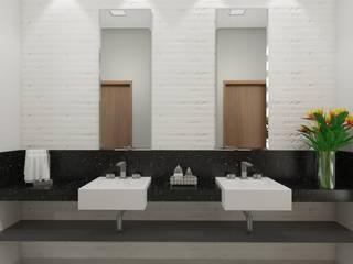 Lavabo: Banheiros  por Marcela Matos Arquitetura e Interiores,Moderno